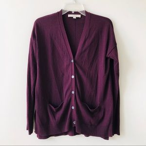 LOFT dark red sweater
